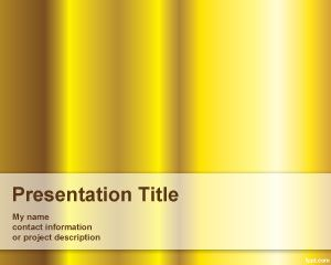 Pure Gold Powerpoint-Vorlage