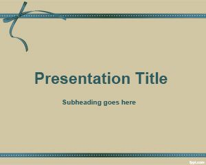 Sepia Gift PowerPoint Template
