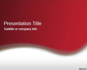 Abstract Format Red PowerPoint 2013