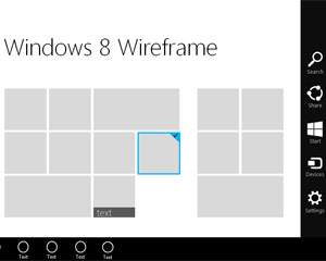 Windows 8 Início Template Wireframe para o PowerPoint