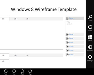 Template Wireframe Windows 7 para o PowerPoint