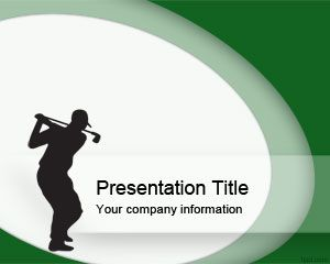 Golf Swing Template PowerPoint