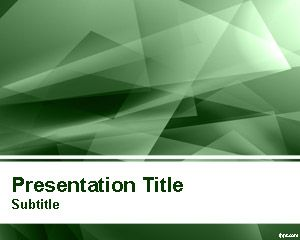 Abstract Green Lights PowerPoint Template