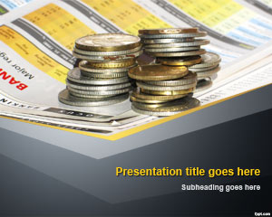 Szablon Biznes Cash Money PowerPoint