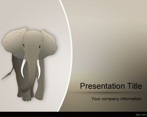 African Elephant PowerPoint Template