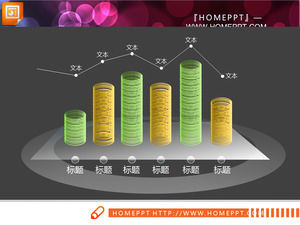 3d solid transparent ring composed of PPT histogram chart download