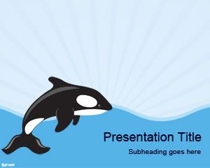 Template Sea Whale PowerPoint
