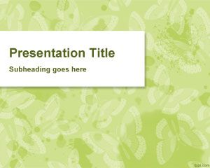Butterfly Background PowerPoint Template