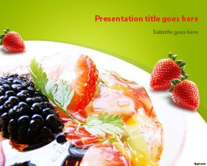 Salade de fruits Modèle PowerPoint