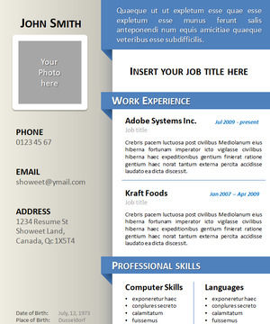 6 color fine English personal resume PPT template