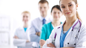 6 medical doctors PPT background picture