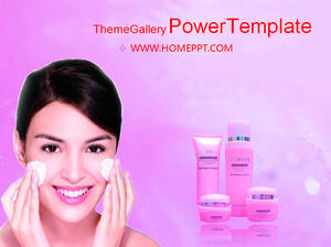 60 sheets of beauty PPT template package download