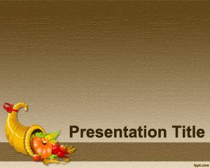 Thanksgiving Recipes PowerPoint Template