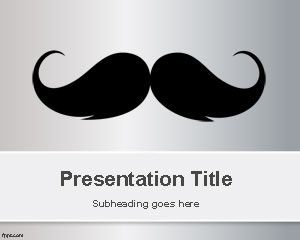 Moustache PowerPoint Template