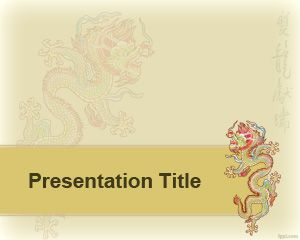 Format din China Dragon PowerPoint