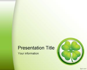 Template St. Patrick Clovers PowerPoint