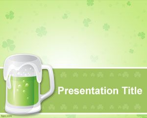 Template St. Patrick Beer PowerPoint
