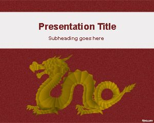 Template Gold Dragon PowerPoint