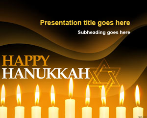 Happy Hanukkah PowerPoint Template