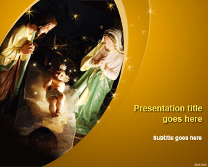 Nativity of Jesus PowerPoint Template