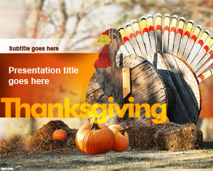Template Thanksgiving Turki PowerPoint