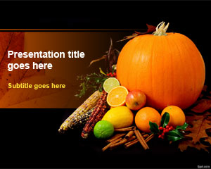 Template Thanksgiving Day PowerPoint