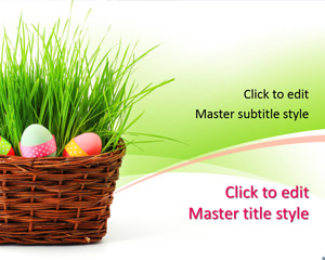 Free 2015 Easter Eggs PowerPoint Template