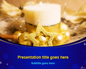Christmas Star Decoration PowerPoint Template