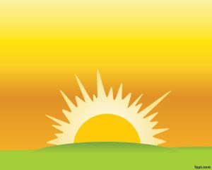 Sunset Clipart Background