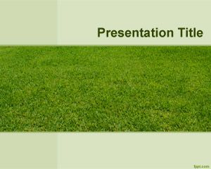 Template Lawn Quintal PowerPoint