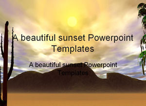 A beautiful sunset Powerpoint Templates