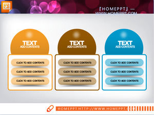 A set of textures with a parallel relationship between PowerPoint chart templates