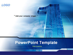 A Shaped Blue Board Science And Technology Ppt Template Powerpoint Templates Free Download