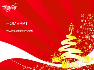 Abstract art christmas PPT template download