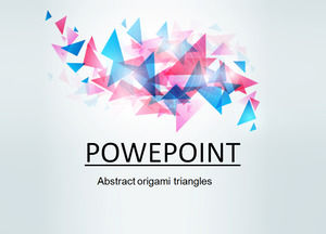 Abstract origami triangles