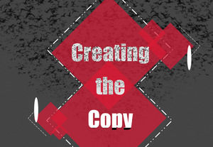 Advertising copy common PPT template