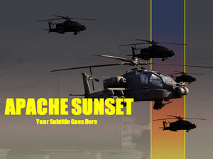Apache helicopter PPt template