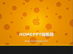 Apple logo background technology slideshow material