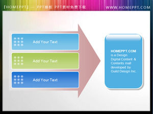 Arrow background PPT text box material