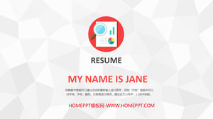 Beautiful and practical LOW style personal resume PPT template