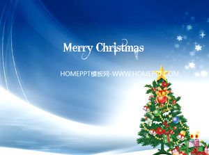 Beautiful Christmas tree background with Christmas PowerPoint template