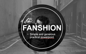 Black and white European and American fashion style brand promotion PPT template