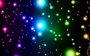Black background color halo starlight PPT background picture