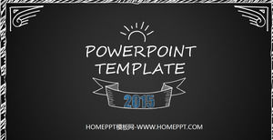 Ppt template powerpoint template free download blackboard chalk hand painted style ppt template download toneelgroepblik Gallery