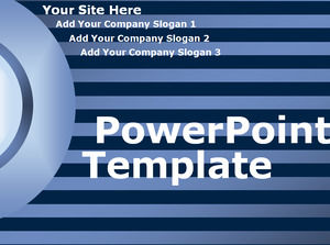 Blue-black striped templates of powerpoint