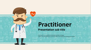 Blue Cartoon Doctor Background Medical Hospital PPT Template Free Download