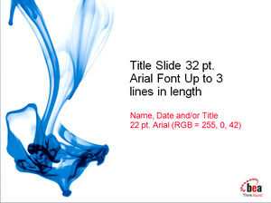 Blue chemical liquid PPT template download