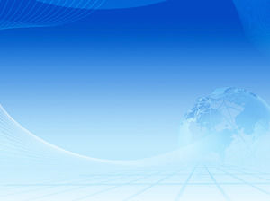 Blue earth lines PowerPoint background image