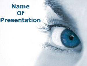 Blue Eyes Powerpoint Templates Free Download