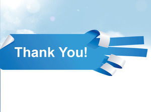 Blue Finger Thank you for watching PowerPoint background images
